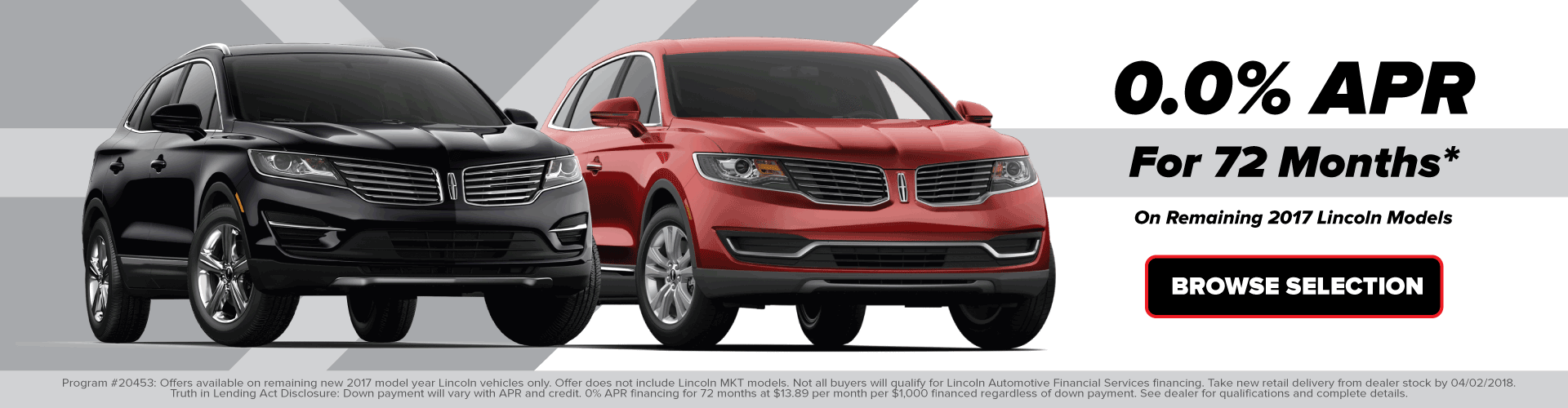 Incentives on Remaining new 2017 Lincoln Models for Sale in St Augustine