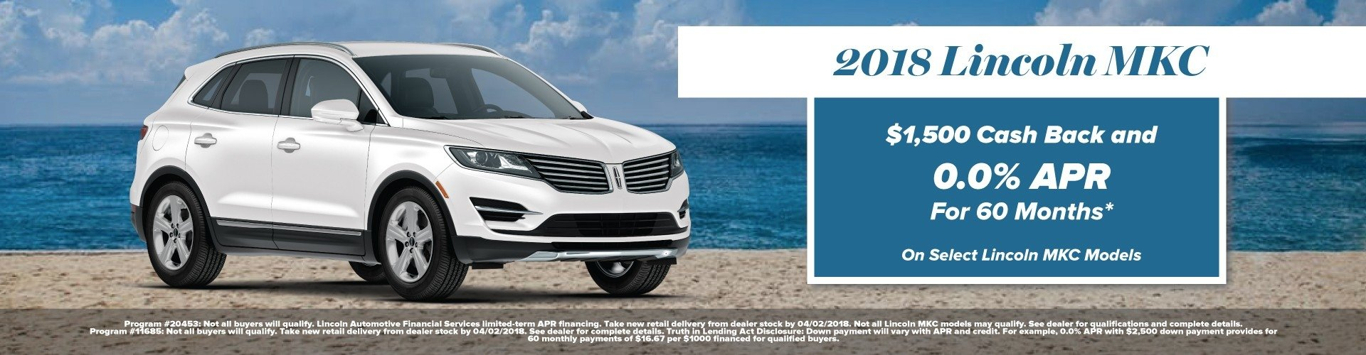 2018 Lincoln MKC Incentives at Bozard Lincoln of St Augustine