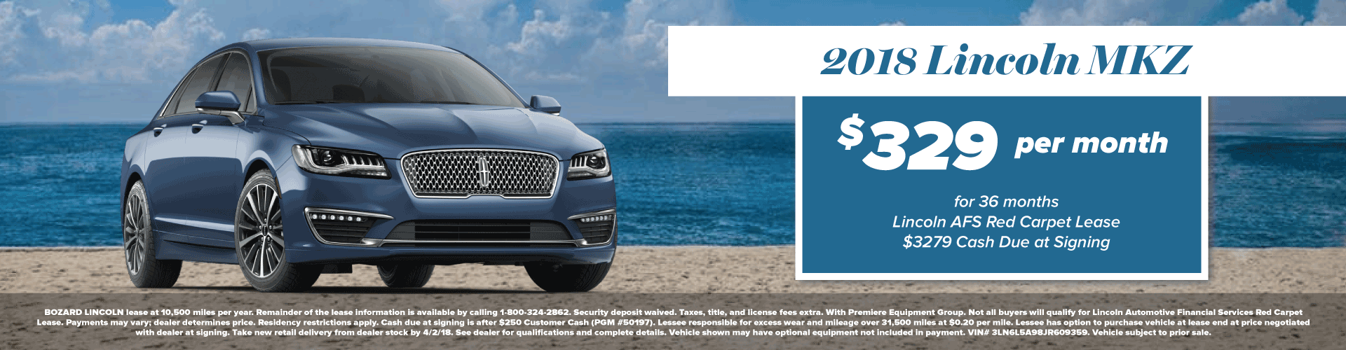 2018 Lincoln MKZ Lease Offer