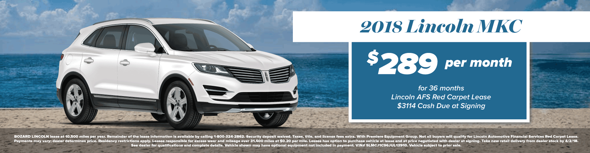 2018 Lincoln MKC Lease Offer