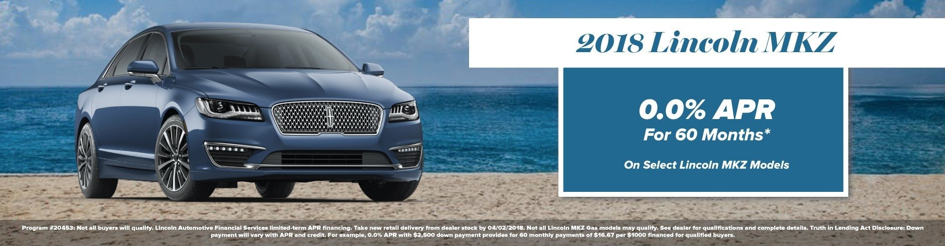 2018 Lincoln MKZ Incentives at Bozard Lincoln of St Augustine