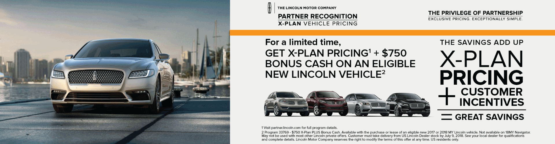 Lincoln X Plan Pricing