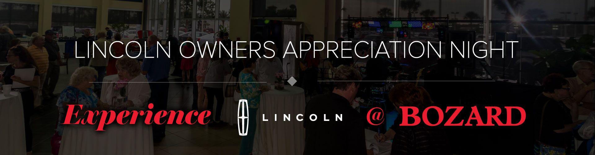 Lincoln owners appreciate night from Bozard Lincoln