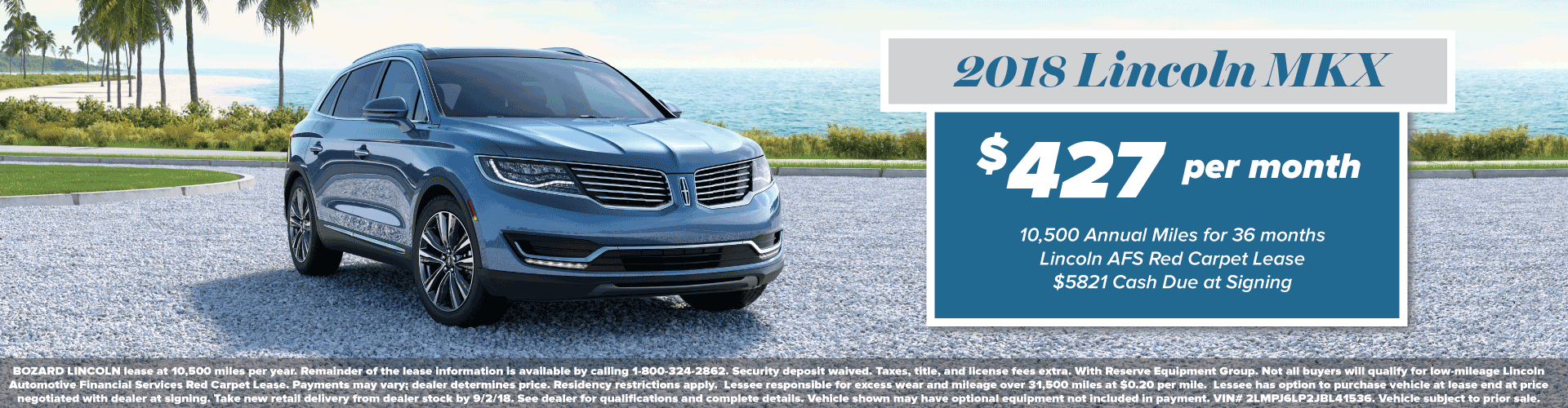 2018 Lincoln MKX Lease Offer