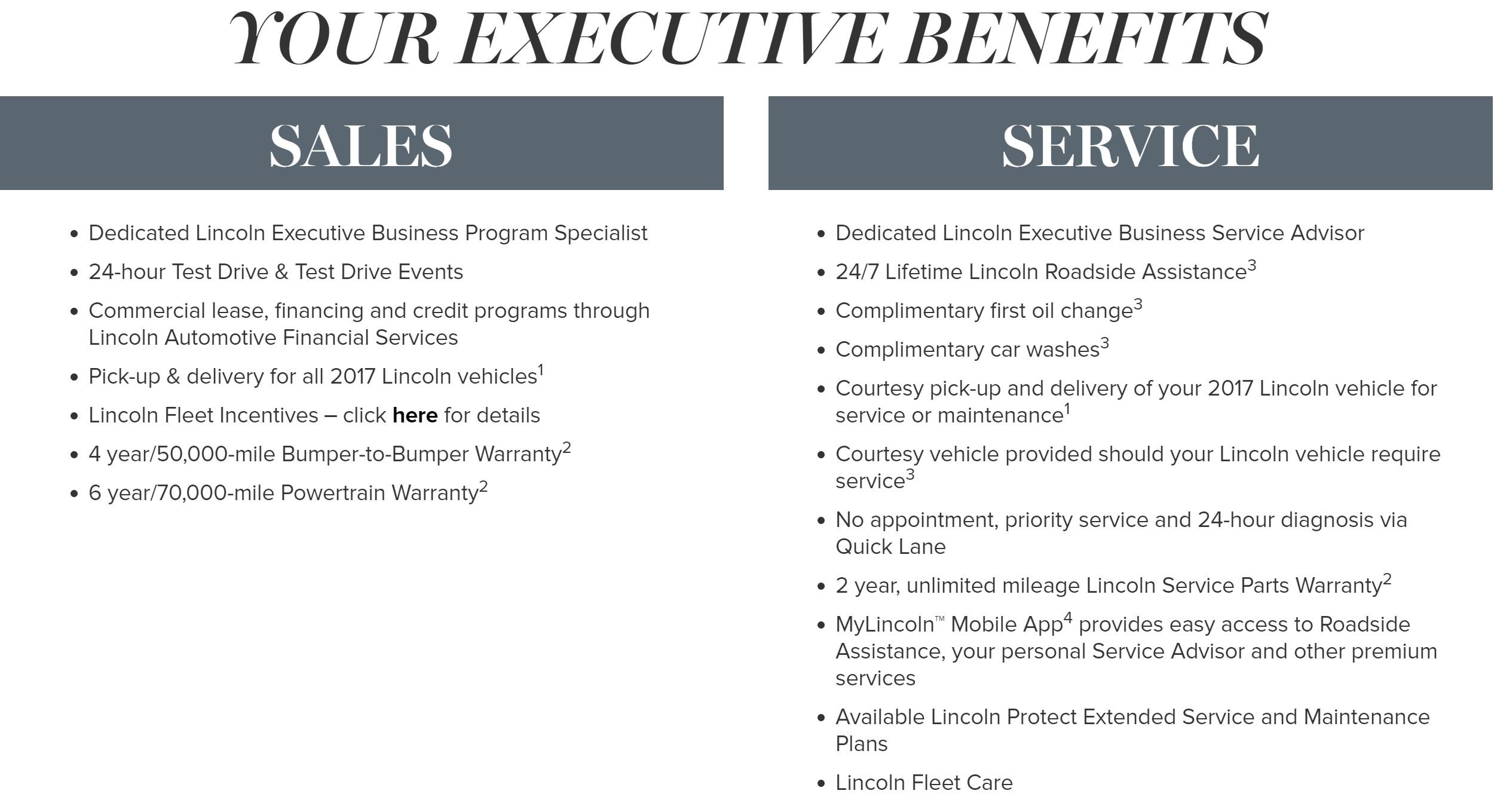 Lincoln Executive Program