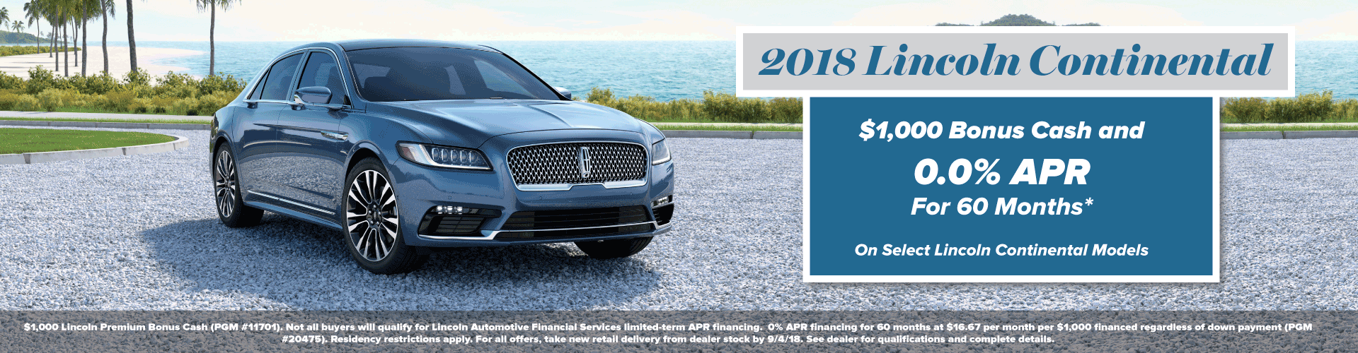 Lincoln Continental 2018 Summer Invitation