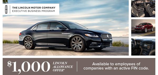 $1000 Lincoln Allowance Offer