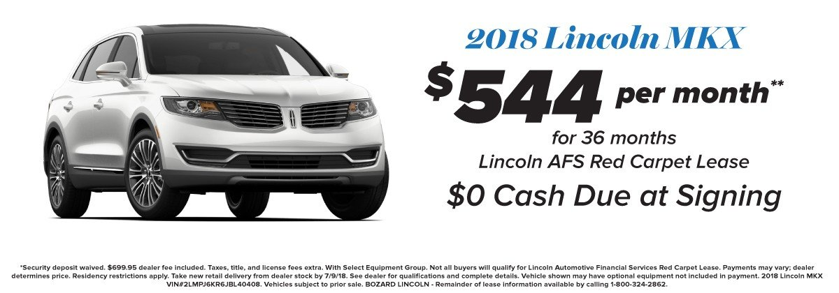 2018 Lincoln MKX Lease with Unlimited Mileage