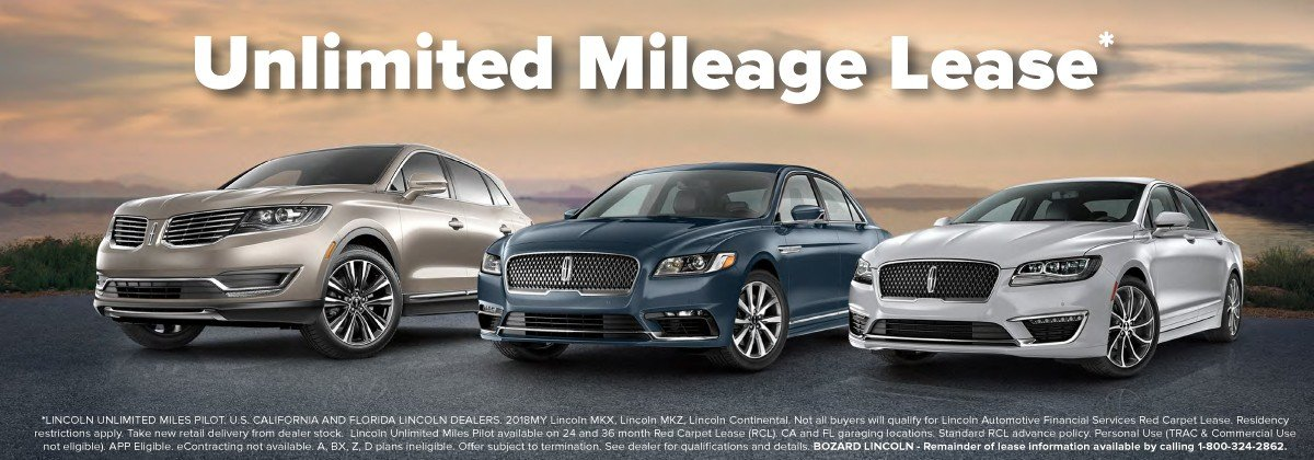 Lincoln Unlimited Mileage Lease Offer