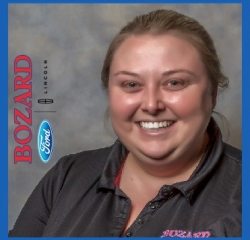 Asst. Service Manager Crystal Garrison in Service at Bozard Lincoln