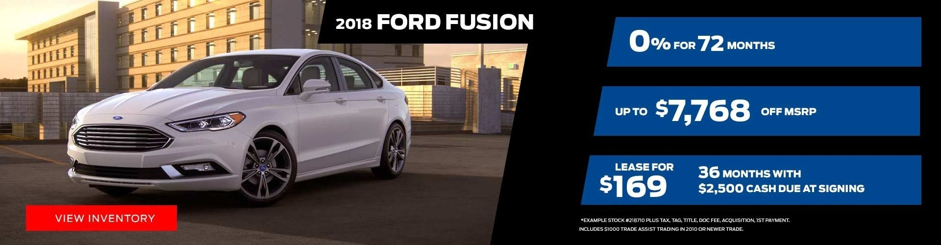 2018 Ford Fusion Special Offer