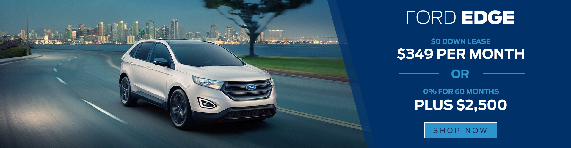silver 2018 ford edge lease special