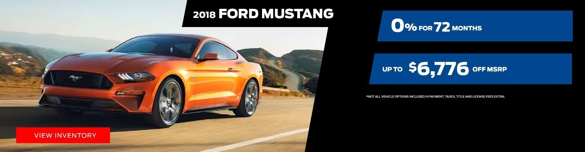 2018 Ford Mustang Special Offer