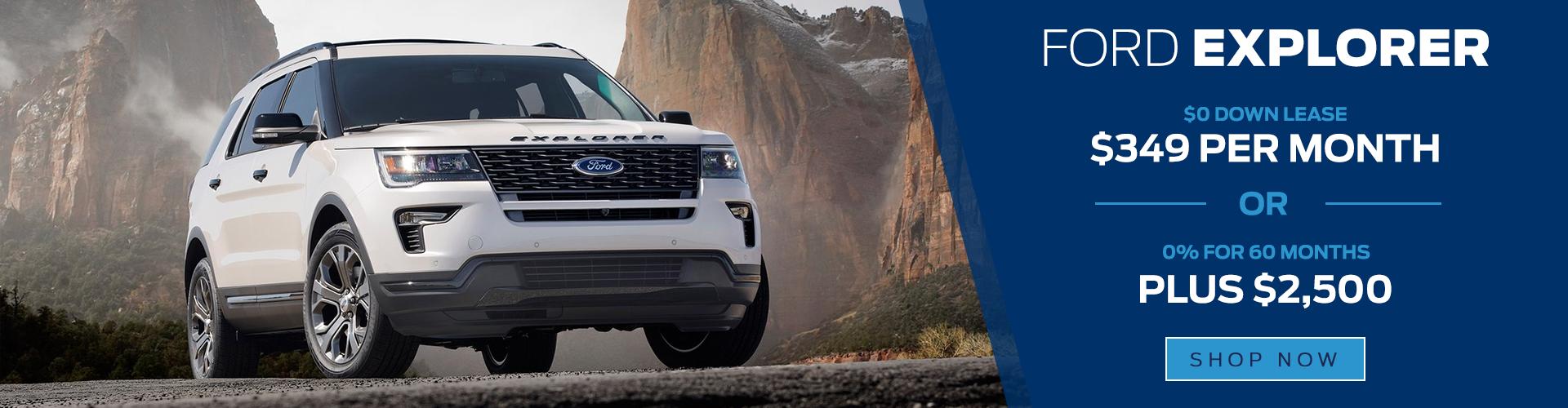 2018 Ford Explorer specials