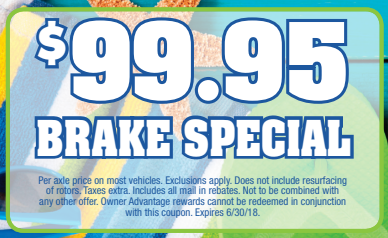 Coupon for Brake Special! $99.95