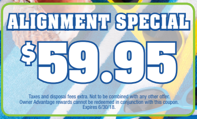 Coupon for Alignment Special! $59.95