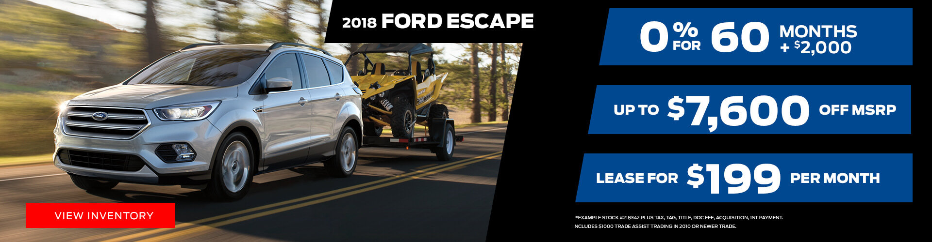 Special offer on 2018 Ford Escape 2018 Ford Escape Special Offer