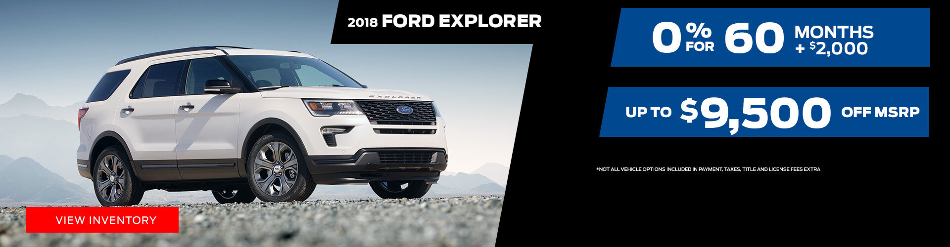 Special offer on 2018 Ford Explorer 2018 Ford Explorer Special Offer