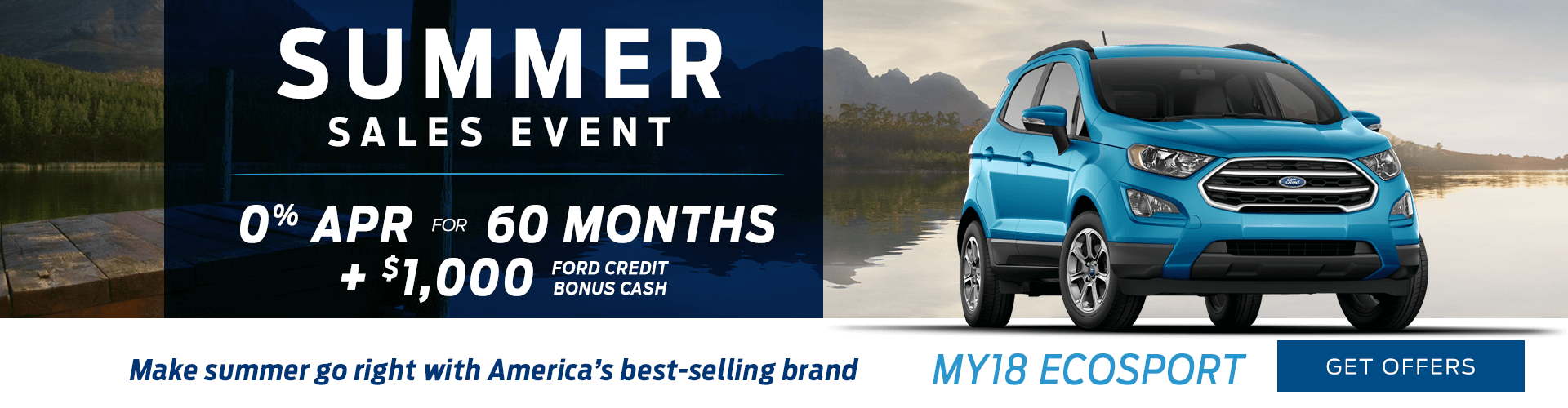 Special offer on 2018 Ford EcoSport 2018 Ford EcoSport Summer Sales Event Offer