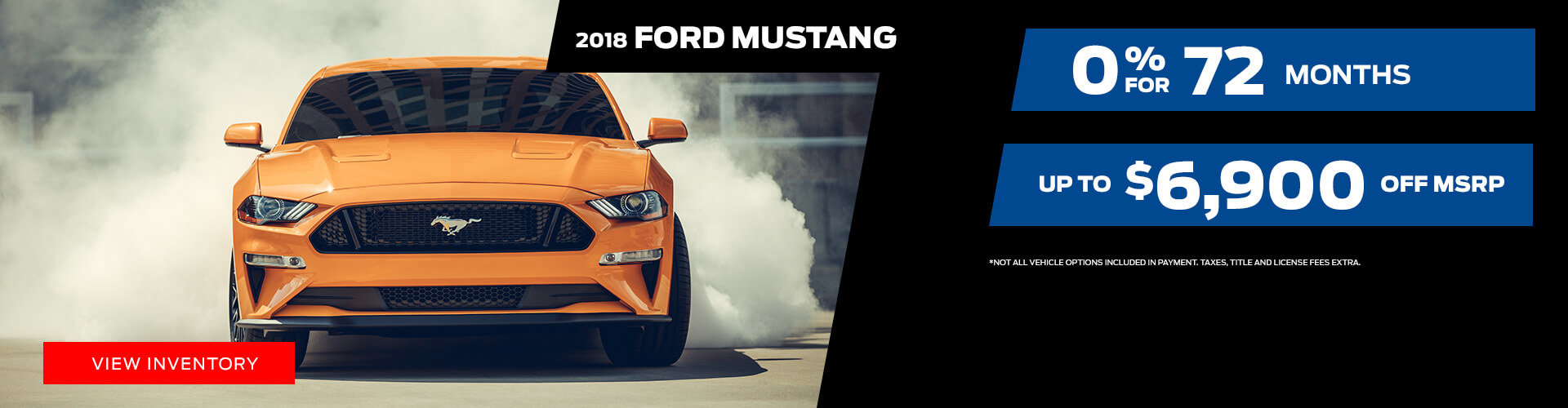 Special offer on 2018 Ford Mustang 2018 Ford Mustang Special Offer