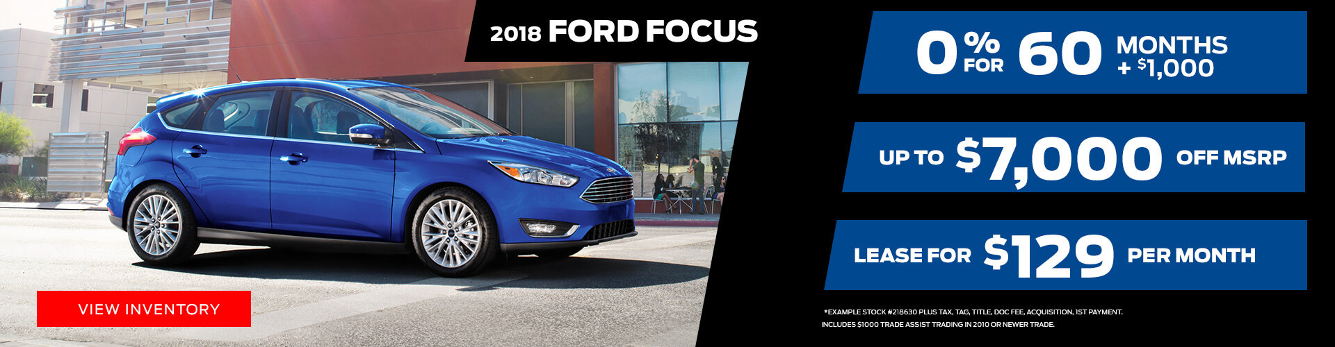 Special offer on 2018 Ford Focus 2018 Ford Focus Special Offer