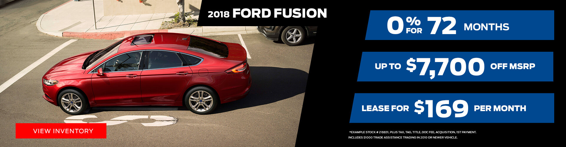 Special offer on 2018 Ford Fusion 2018 Ford Fusion Special Offer