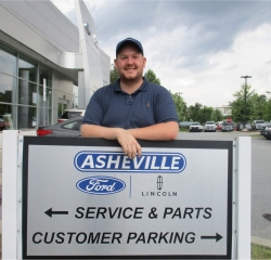 Service Advisor Brody Powell in Service/Parts at Asheville Ford
