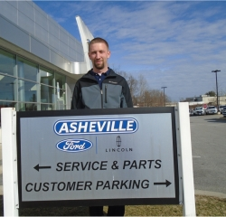 Service Advisor Chris Dillin in Service/Parts at Asheville Ford