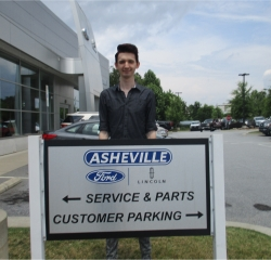 Cashier Chris McDonald in Service/Parts at Asheville Ford