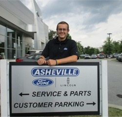 Lincoln Service Advisor  Coty Holbrook in Service/Parts at Asheville Ford