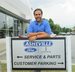 BDC Manager Jason McLean in Managers at Asheville Ford