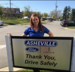 Service Coordinator Katie Fox in Service/Parts at Asheville Ford