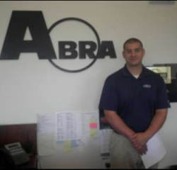 Customer Service Manager Lucas Ellex in ABRA at Asheville Ford