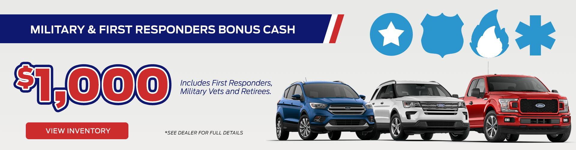 Military & First Responders Bonus Cash