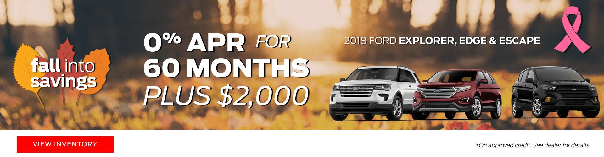 2018 Ford Explorer, Edge & Escape Special