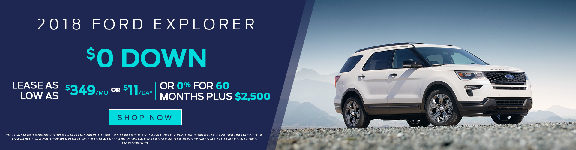 2018 Ford Explorer for Lease