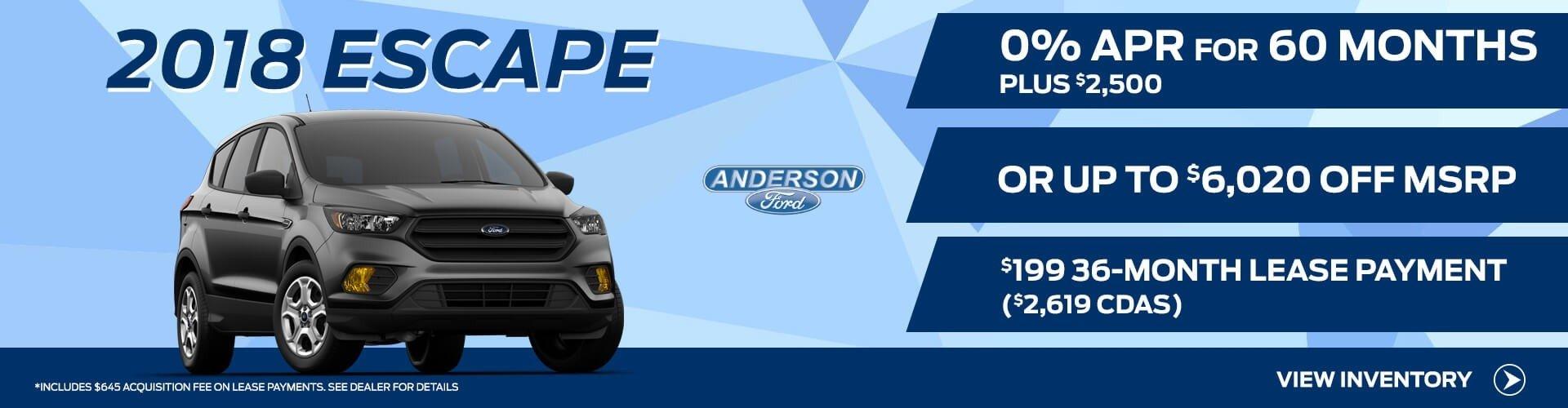 2018 Ford Escape for Sale
