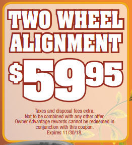 Coupon for Two Wheel Alignment