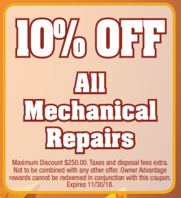 Coupon for Mechanical Repairs 10% off