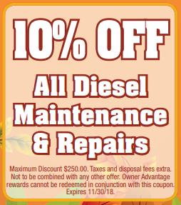 Coupon for Diesel Maintenance & Repairs 10% off