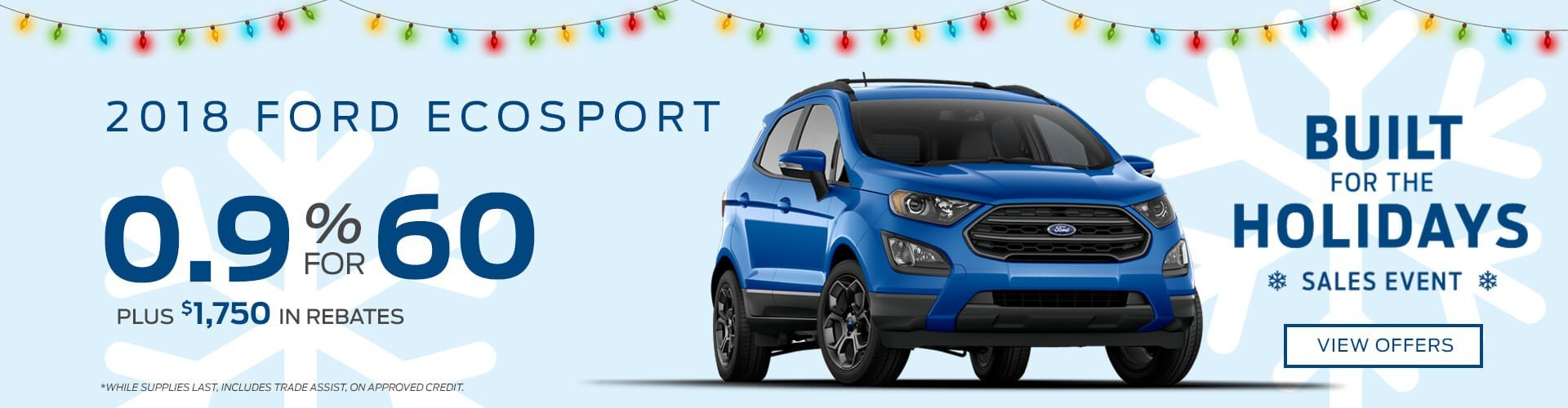 Special offer on 2018 Ford EcoSport 2018 Ford EcoSport