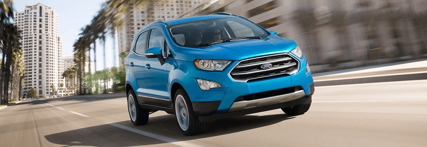 woman driving a brand new 2018 ford ecosport ses