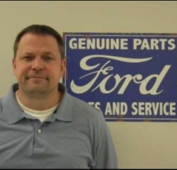Parts Team  Brad  Taylor in Service at Anderson Ford