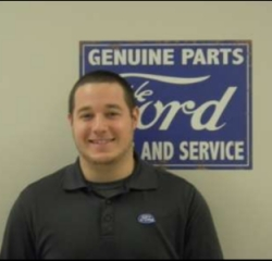 Parts Advisor Carl Garrison in Service at Anderson Ford
