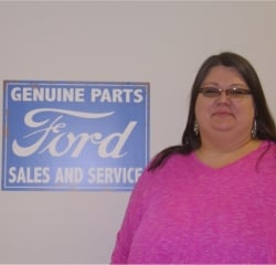 Receptionist CeCe Aiken in Office at Anderson Ford