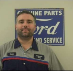 Service Tech David Simpson in Service at Anderson Ford