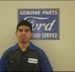 Quick Lane Tech  Jose Rodriquez in Service at Anderson Ford