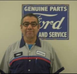 Certified Quick Lane Tech Mike Saavedra in Service at Anderson Ford