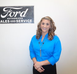Internet Sales Manager Chelsea Sherbet in Managers at Anderson Ford