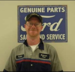 Service Tech Rusty Roberts in Service at Anderson Ford